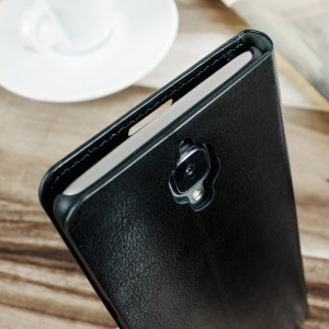 Olixar Leather-Style OnePlus 3 Wallet Stand Case - Black