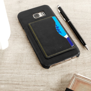 Olixar Leather-Style Samsung Galaxy S7 Edge Card Slot Case - Black