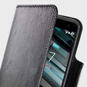Olixar Leather-Style Vodafone Smart Platinum 7 Wallet Case - Black