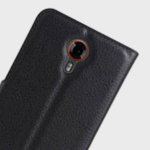 Olixar Leather-Style Wileyfox Swift 2 Wallet Case - Black