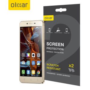Olixar Lenovo K5 Film Screen Protector 2-in-1 Pack