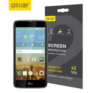 Olixar LG K7 Screen Protector 2-in-1 Pack