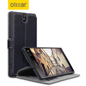 Olixar Low Profile Sony Xperia C5 Ultra Wallet Case - Black