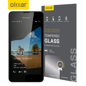 Olixar Microsoft Lumia 550 Tempered Glass Screen Protector