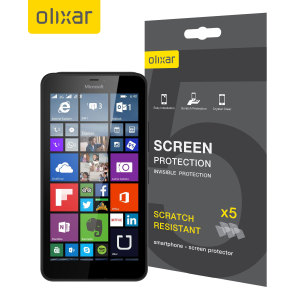 Olixar Microsoft Lumia 640 XL Screen Protector 5-in-1 Pack
