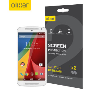 Olixar Moto G 2nd Gen Screen Protector 2-in-1 Pack