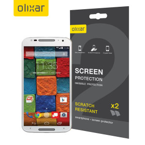 Olixar Moto X 2nd Gen Screen Protector 2-in-1 Pack