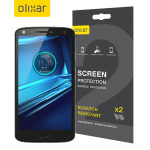 Olixar Motorola Droid Turbo 2 Screen Protector 2-in-1 Pack