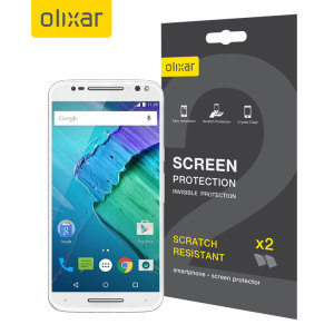 Olixar Motorola Moto X Style Screen Protector 2-in-1 Pack