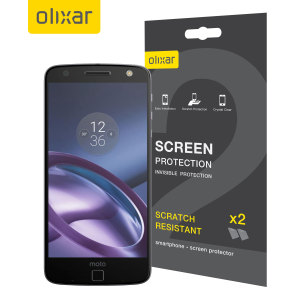 Olixar Motorola Moto Z Screen Protector 2-in-1 Pack