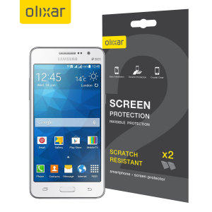 Olixar Samsung Galaxy Grand Prime Screen Protector 2-in-1 Pack
