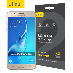 Olixar Samsung Galaxy J7 2016 Screen Protector 2-in-1 Pack