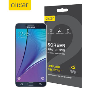 Olixar Samsung Galaxy Note 5 Screen Protector 2-in-1 Pack