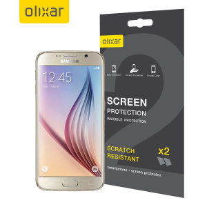 Olixar Samsung Galaxy S6 Screen Protector 2-in-1 Pack
