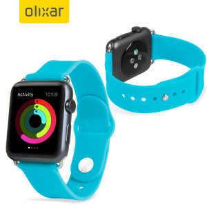Olixar Silicone Rubber Apple Watch 2 / 1 Sport Strap - 38mm - Blue