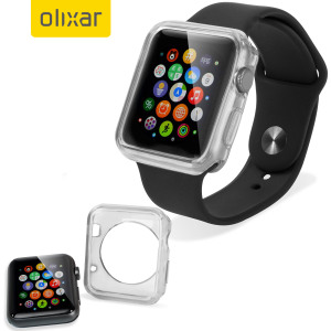 Olixar Soft Protective Apple Watch 2 / 1 Case - 38mm - Clear