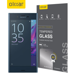 Olixar Sony Xperia XZ Tempered Glass Screen Protector - Black