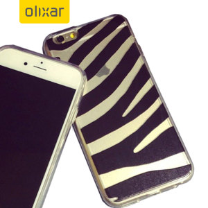 Olixar Ultra Thin iPhone 6S / 6 Case - Black Stripe