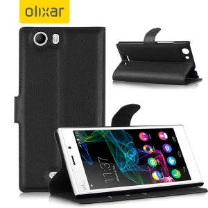 Olixar Wiko Ridge 4G Wallet Case - Black
