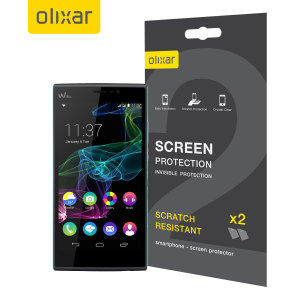 Olixar Wiko Ridge Fab 4G Screen Protector 2-in-1 Pack