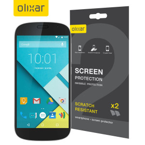 Olixar Yota YotaPhone 2 Screen Protector 2-in-1 Pack
