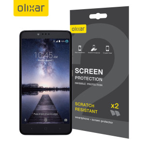 Olixar ZTE ZMax Pro Screen Protector 2-in-1 Pack