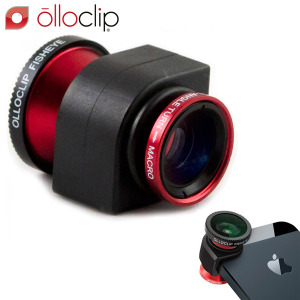 olloclip iPhone 5S / 5 Fisheye, Wide-angle, Macro Lens Kit - Red