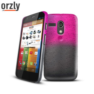 Orzly Raindrop Hard Back Case for Moto G - Pink