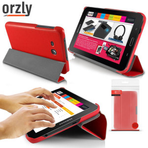 Orzly Samsung Galaxy Tab 3 Lite 7.0 Slim Rim Case - Red