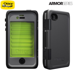 OtterBox Armor Series Waterproof Case for iPhone 4S / 4 - Neon / Grey
