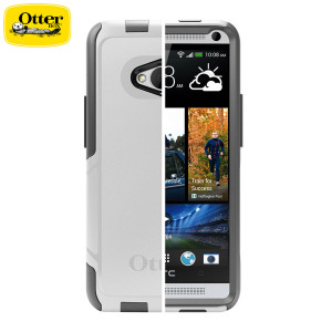 Otterbox Commuter Series for HTC One M7 - White / Grey