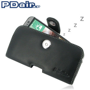 PDair Horizontal Leather HTC One M8 Pouch Case - Black