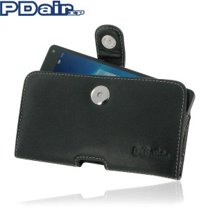 dual pdair horizontal leather lumia 950 pouch case black ultra-slim design precisely