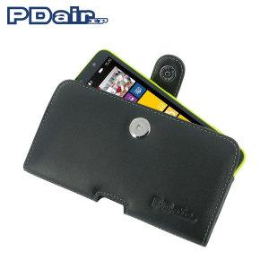 PDair Horizontal Leather Pouch Case for Nokia Lumia 1320 - Black