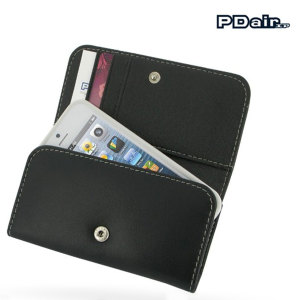 PDair Leather Wallet for Apple iPhone 5S / 5 - Black