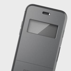 Peli Vault Folio iPhone 7 View Window Wallet Case - Grey / Clear
