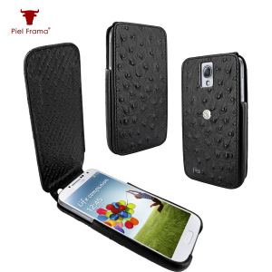 Piel Frama iMagnum Ostrich Case For Samsung Galaxy S4 - Black