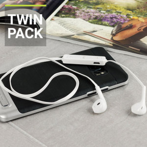 Plug N Go Handsfree Bluetooth Earphones - White - Twin Pack