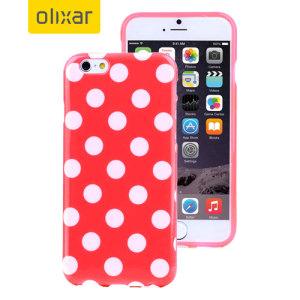 Polka Dot FlexiShield iPhone 6S Plus / 6 Plus Gel Case - Red