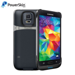 PowerSkin Ultra-Thin Samsung Galaxy S5 Extended Battery Case - Black
