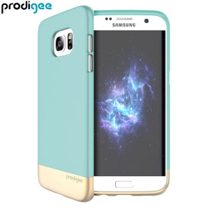 Prodigee Accent Samsung Galaxy S7 Edge Case - Aqua / Gold