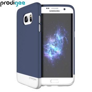 Prodigee Accent Samsung Galaxy S7 Edge Case - Navy Blue / Silver