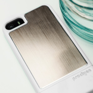 Prodigee Fusion iPhone SE Case - White / Champagne Gold