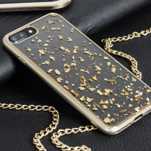 Prodigee Scene Treasure iPhone 7 Plus Case - Gold Sparkle