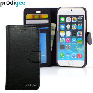 Prodigee Wallegee iPhone 6S / 6 Eco-Leather Wallet Case - Black