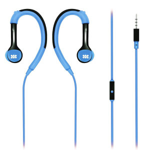even watched promate natty in ear sports headphones with ear hooks blue connections from