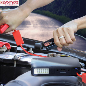 Promate Patrol Emergency Jump Starter with 13500mAh Power Bank