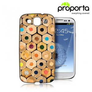 Proporta Hard Case for Samsung Galaxy S3 - Pencils