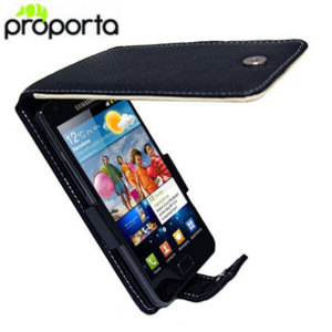 Proporta Samsung Galaxy S2 Alu-Leather Case - Black