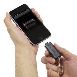 PulsePak Universal Lightning Key-Chain Emergency Power Bank - Black